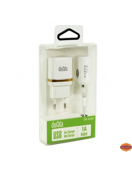 Grossiste piece detachees:DURATA CHARGEUR IPHONE 5G/6G  3EN1 1000 MAH