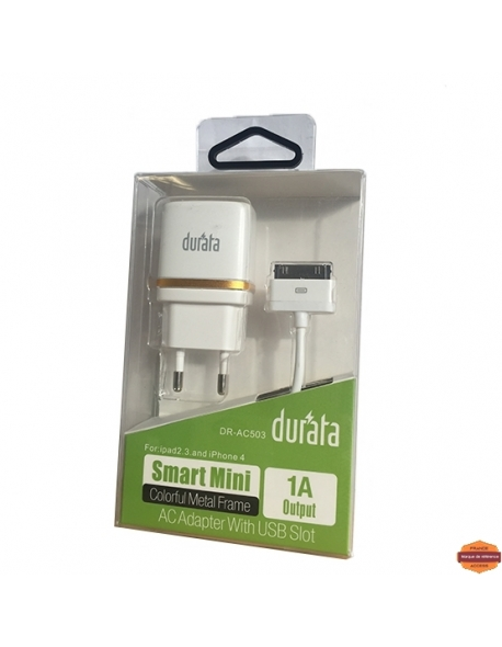 Grossiste piece detachees:DURATA CHARGEUR IPHONE 4g 1000MAH 2 EN 1
