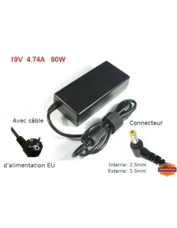 CHARGEUR -90W -19V- 4.74A -  5.5*2.5 POUR ACER /HP /ASUS /TOSHIBA