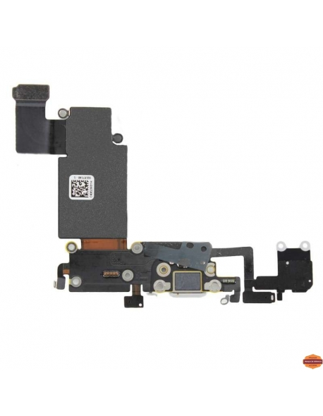 Grossiste piece detachees:CONNECTEUR DE CHARGE IPHONE 6S PLUS NOIR