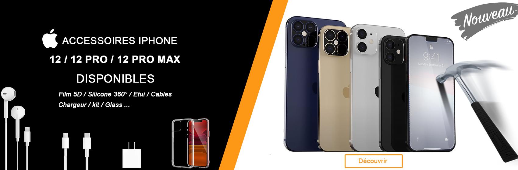 Découvrir nos accessoires pour iphone 12 / 12pro et 12 pro max
